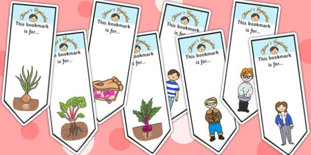 Oliver's Vegetables Editable Bookmarks - stories, bookmarks, award