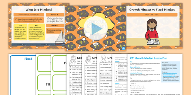Ks1 Growth Mindset Lesson Plan And Differentiated Worksheet Worksheets
