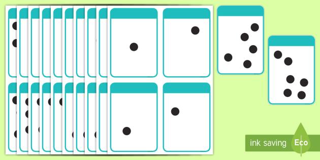 Subitising Flashcards - New Zealand Maths, Worksheets