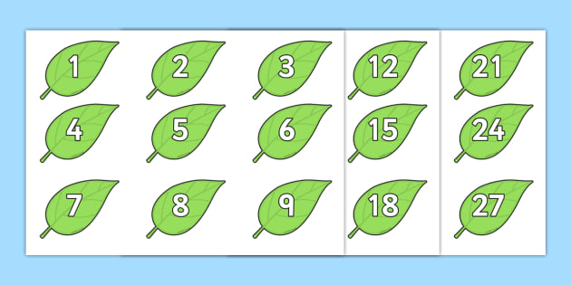 Numbers 0-100 on Spring Leaves Display Posters -  Numbers 0-100 on Spring Leaves Display Posters - 0-100, foundation stage numeracy, Number recogniti