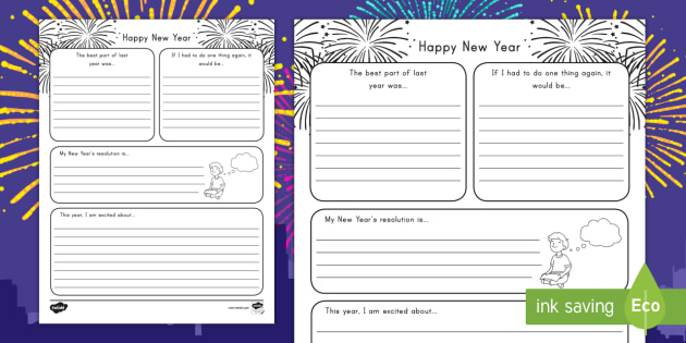 New Year Resolution Template For Students from images.twinkl.co.uk