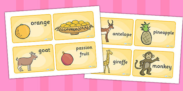 Story Sequencing 4 Per A4 to Support Teaching on Handa's Surprise - order, ordering
