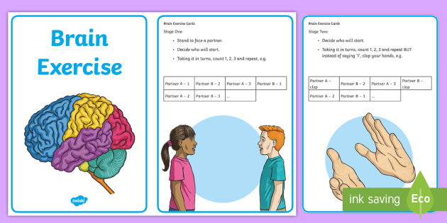 Brain Exercise Posters - Brain activities, relaxation