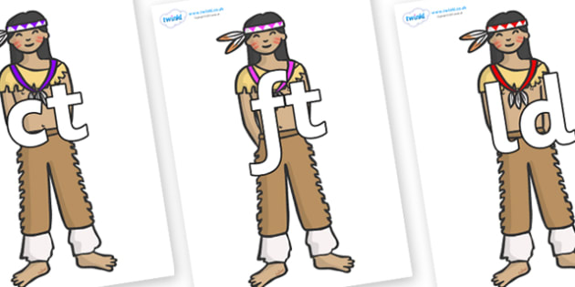 Final Letter Blends on Native Americans - Final Letters, final letter, letter blend, letter blends, consonant, consonants, digraph, trigraph, literacy, alphabet, letters, foundation stage literacy