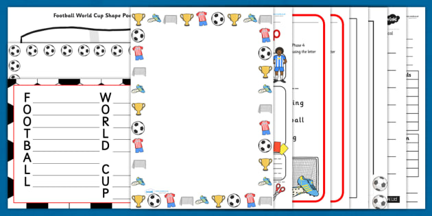 football world cup themed writing activity pack sports
