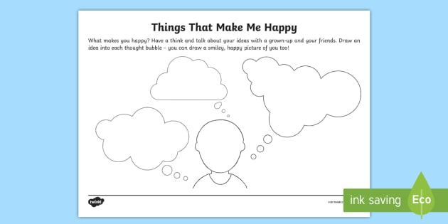 Things That Make Me Happy - Drawing Activity