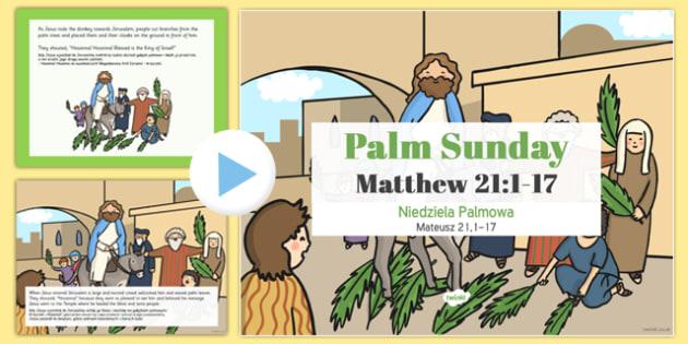 Palm Sunday PowerPoint Polish Translation - polish, christianity, religion, powerpoints