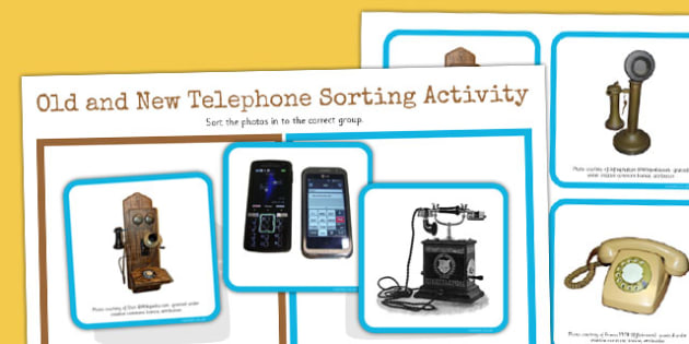 Alexander Bell Old and New Telephones Sorting Activity - sorting