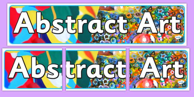 Abstract Art Display Banner - artist, artist, header, display