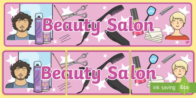 Beauty Salon Display Banner - Salon, role play, beauty salon, make up, nails, hair dressing up, play