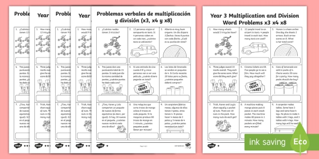 year 3 multiplication and division word problems x3 x4 x8 worksheets. Black Bedroom Furniture Sets. Home Design Ideas