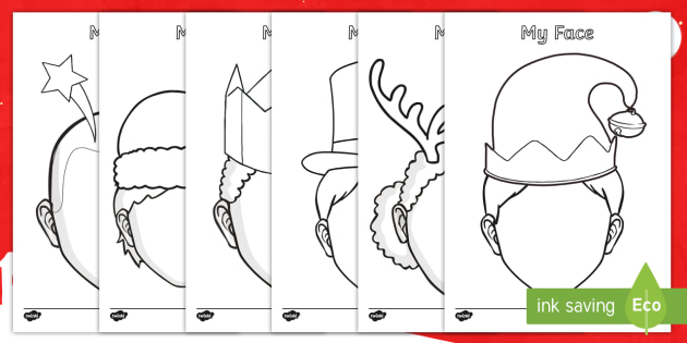 Chirstmas Themed  Blank Faces Template Activity