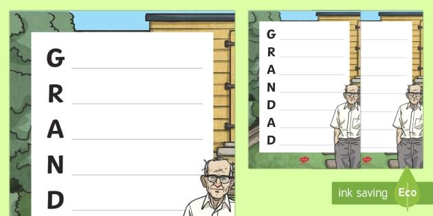 grandpa acrostic poem