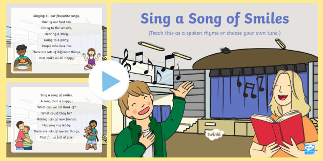 Sing a Song of Smiles Song PowerPoint