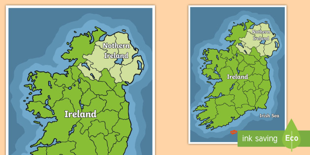 Images Of Map Of Ireland.Map Of Ireland Map Ireland Countries Dublin Belfast North