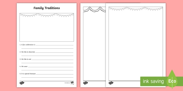 English worksheets: Family Traditions