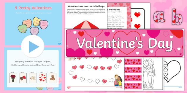 CfE Early Level Valentines Day Resource Pack  saint valentine