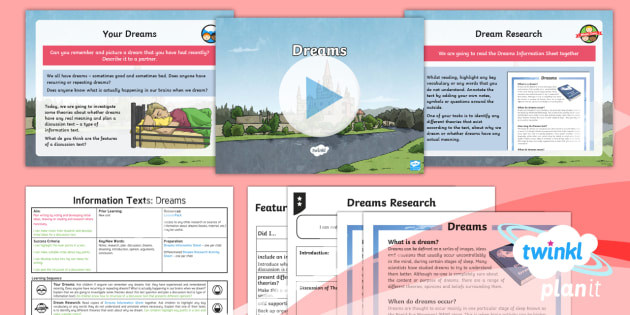Explorers: Dreams and Anders Arnfield: Information Texts 1 Y6 Lesson Pack - dreams, writing, information, discussion texts, debate language