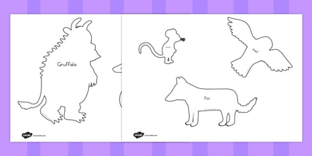 australia the gruffalo shadow puppets mindfulness colouring sheets bumper pack - Gruffalo Colouring Pages To Print