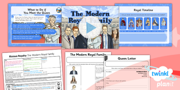 History: Riotous Royalty: The Modern Royal Family LKS2 Lesson Pack 6