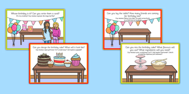 Birthday Role Play Challenge Cards Polish Translation Polish