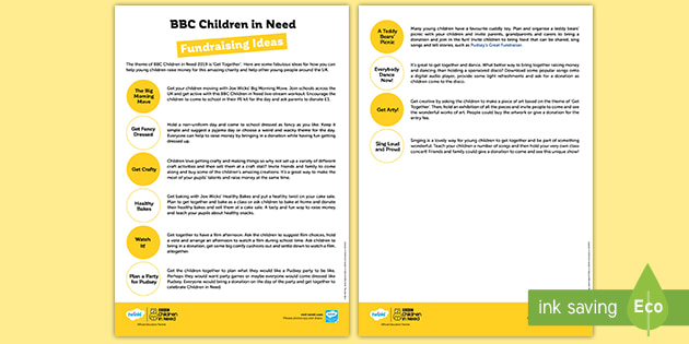 * NEW * KS1 BBC Children in Need Fundraising and Teaching Ideas