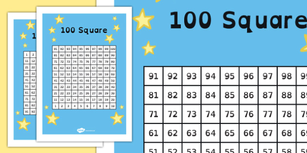 100 Square (dyslexia) - 100 square in dyslexia font, number