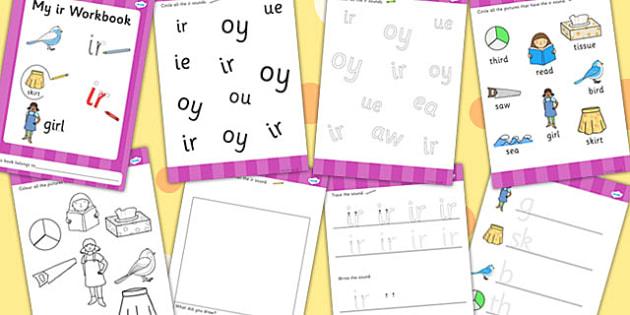 Phase 5 ir Grapheme Workbook - phase five, graphemes, literacy