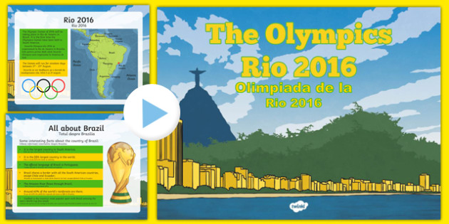 KS2 Olympic Games Rio 2016 PowerPoint Romanian Translation - romanian, Olympics 2016, Brazil, sports, Rio, KS2, Olympics, games, Olympians