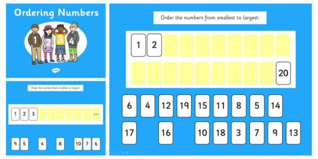 Ordering Numbers 0 10 and 0 20 Notebook - order, number, orders
