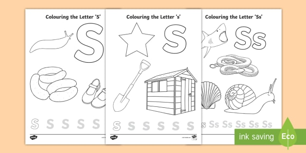 Free Letter S Colouring Pages Teacher Made