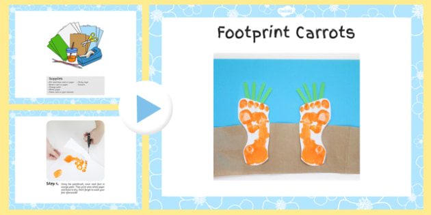 Footprint Carrots Craft Instructions PowerPoint - craft, powerpoint, carrots, instructions, footprint