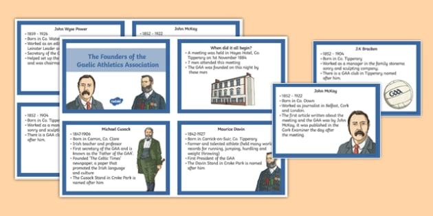 Founders of the GAA - GAA, Ireland, Irish, Croke Park, history, sport, gaeilge, hurling, culture
