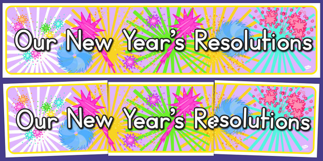 Our New Year's Resolutions Display Banner - australia, new year