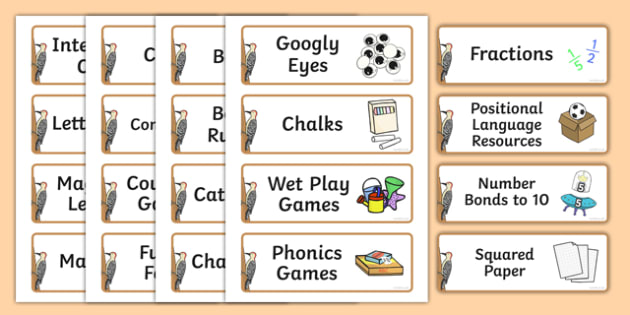 Woodpecker Themed Editable Additional Resource Labels - Themed Label template, Resource Label, Name Labels, Editable Labels, Drawer Labels, KS1 Labels, Foundation Labels, Foundation Stage Labels, Teaching Labels, Resource Labels, Tray Labels, Printab