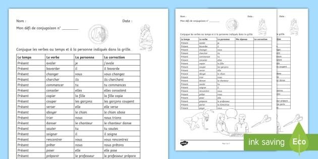 New Defi De Conjugaison Les Verbes En Er Au Present