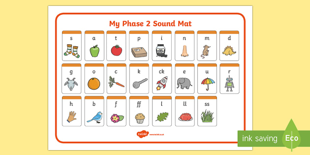 Phase 2 Sound Mat Sound Mat Letters And Sounds Dfes