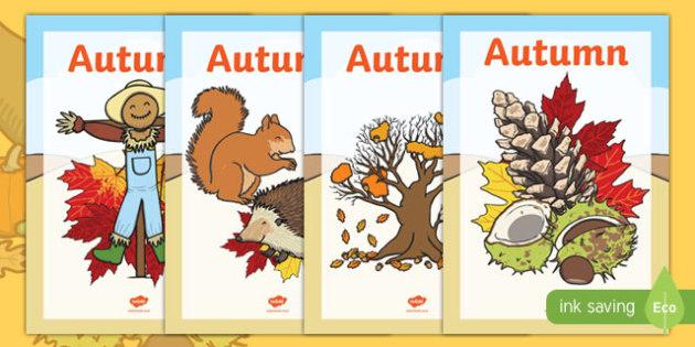 Autumn Topic Workbook Covers - autumn topic workbook covers, workbook, covers, workbook covers, autumn, topic, leaves, orange, colourful