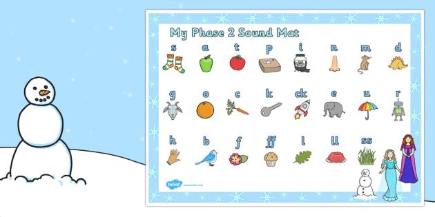 Winter Fairytale Themed Phase 2 Sound Mat - sound, mat, frozen