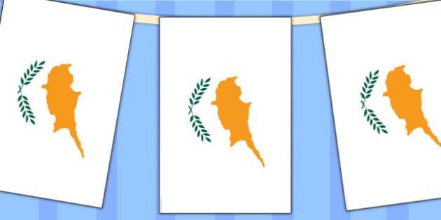 Cyprus Flag Display Bunting - commonwealth, display, flags