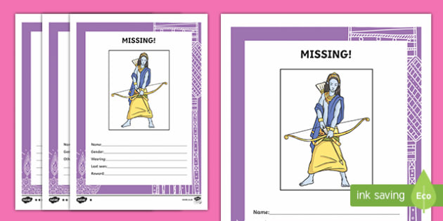Rama Missing Person Poster Activity
