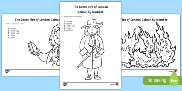 The Great Fire of London Colour by Number