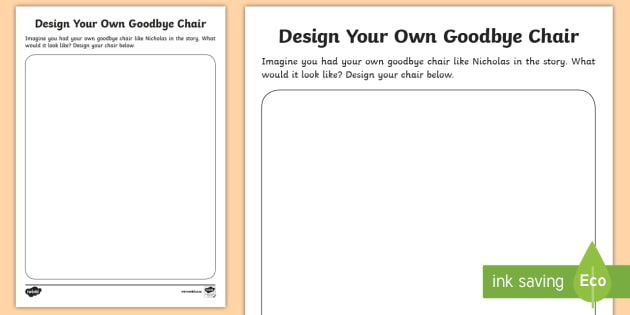 Design Your Own Goodbye Chair Activity   Literacy, New Zealand, Josephine  Carson Barr,