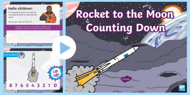 * NEW * Rocket to the Moon Counting Down PowerPoint
