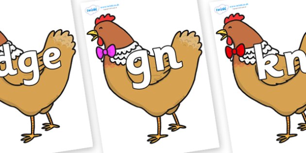 Silent Letters on Henny Penny - Silent Letters, silent letter, letter blend, consonant, consonants, digraph, trigraph, A-Z letters, literacy, alphabet, letters, alternative sounds