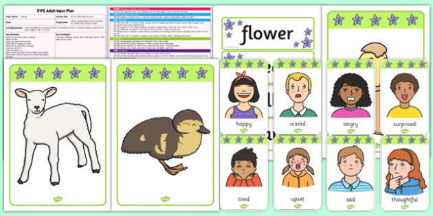 Spring Mind Map Activity EYFS Adult Input Plan and Resource Pack - EYFS, Early Years planning, adult led, spring, C&L, Communication and Language