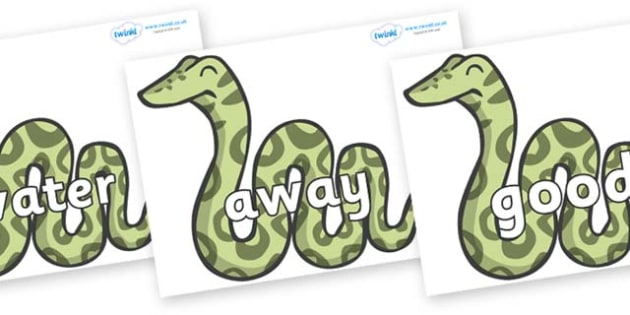 Next 200 Common Words on Snakes - Next 200 Common Words on  - DfES Letters and Sounds, Letters and Sounds, Letters and sounds words, Common words, 200 common words