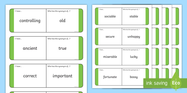 Synonyms Loop Cards Teacher Made Trying to find another word for lucky in english? synonyms loop cards teacher made