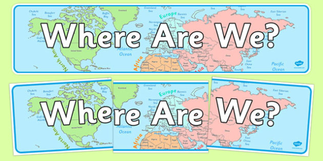 Where Are We? Display Banner - where are we, display banner, display, banner