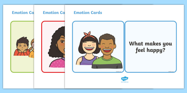 Emotions Cards - emotions, happy, sad, my body, my emotions, cards, flashcards, word cards, communicate, communications, emotion, tired, angry, how do you feel